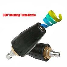 """1/4 """"do szybkiego łączenia obrotowa dysza Turbo myjka ciśnieniowa 360 stopni Turbo dysze 4000 Psi Cleaner akcesoria"""