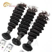 Перуанские волосы глубокая волна пряди наращивание волос натуральный Цвет 100% натуральные кудрявые пучки волос 1/3/4 шт. 8-24 дюймов-Волосы remy