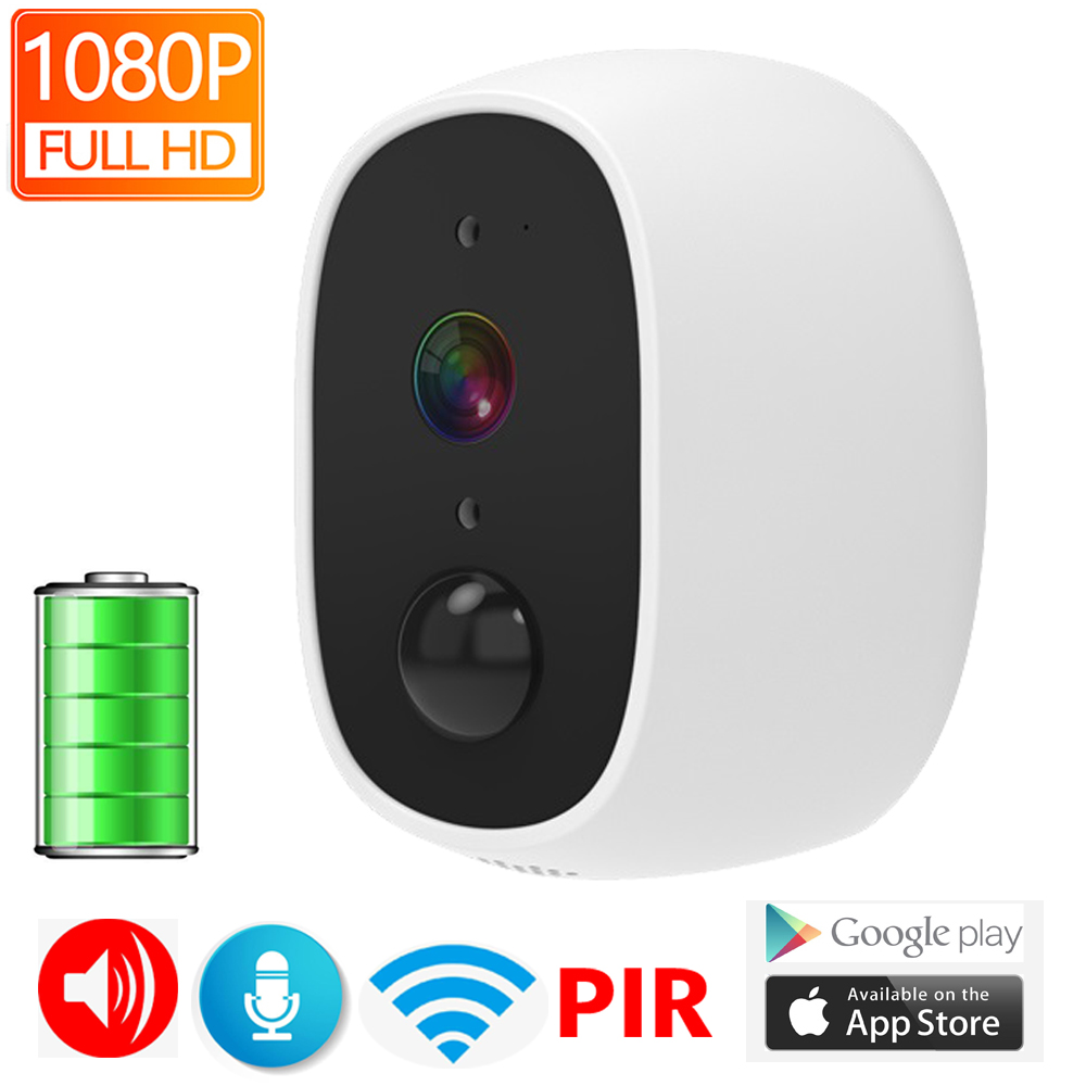 JIENUO Battery IP Camera Wifi 1080P 130 Wide View Angle Surveillance Rechargeable Security IPcam Wireless Infrared Home Camera|Surveillance Cameras| |  - title=
