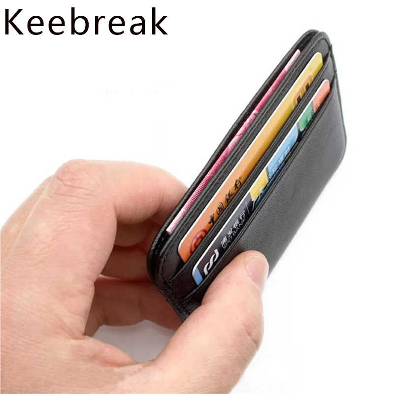 slim genuine leather card holder business credit card id holder card case cardholder rfid men wallet porte carte