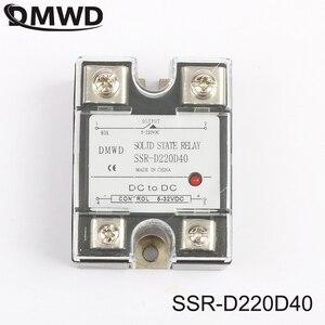SSR 40DD 40A DC Однофазное твердотельное реле с индикатором SSR-40DD Вход 5-32 В напряжение постоянного тока 5-220 В DC SSR-D220D40