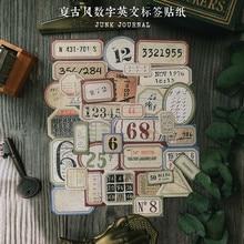 35 unidades/pacote etiqueta digital do bilhete do vintage etiqueta diy artesanato scrapbooking álbum lixo diário planejador adesivos decorativos