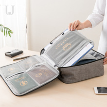 Multifunctional Waterproof ID Storage Bag Home Multi-layers Document Passport Certificate Finishing Bag Card Package