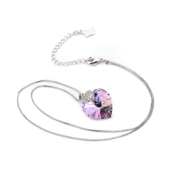 Heart Amethyst Pendant Necklace Jewelry Necklaces Women Jewelry