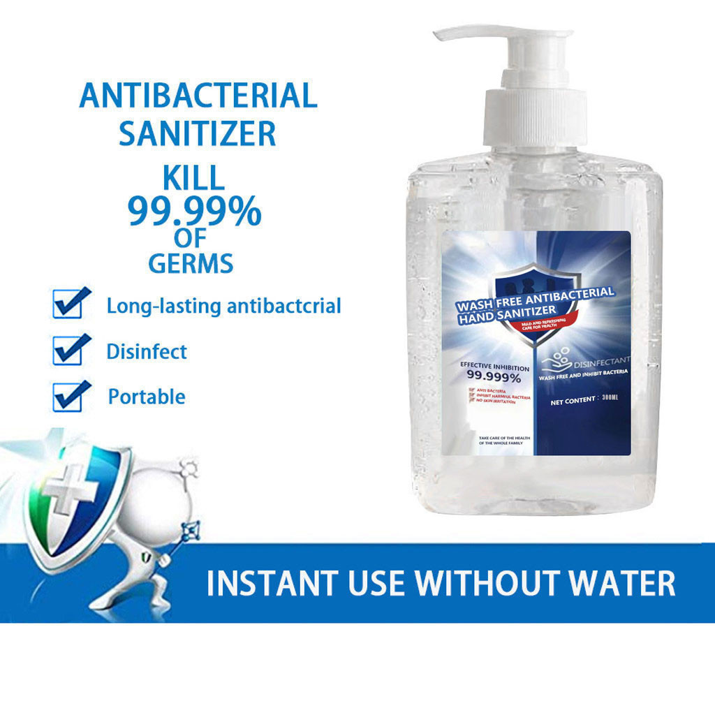 300ml Disinfection Gel Disposable Hand Sanitizer Home Bathroom Long-Lasting Speed Dry Hand Lotion 300ML Hand Sanitizer #LR3