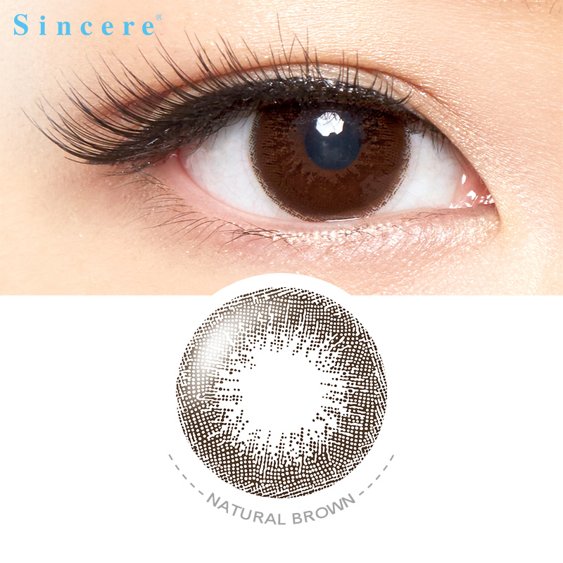 Natural Brown Colour Contact Lenses For Eyes Vision Correction Health Care Monthly Throw Colour Lenses Used For 30days
