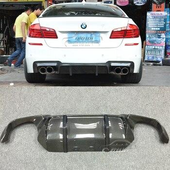 OLOTDI Auto Tuning accessoires DTM Style Carbon Fiber Rear Lip spoiler Diffuser Voor BMW F10 M5 4 Deur Sedan 2012-2017