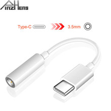 PINZHENG Type C To 3.5mm Jack Earphone Cable Headphone Adapter For Huawei Mate 20 Xiaomi Mi 6 Type-C 3.5 AUX USB C Audio Cable(China)