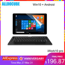 Alldocube iWork10 pro tablette 10.1 pouces Intel Cherry-Trail Windows10 + Android 5.1 double système RAM 4GB + ROM 64GB 1920*1200 IPS wifi(China)