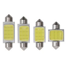 цена на 1PCS C3W C5W C10W festoon LED Car COB reading Door Light Trunk Lamp License Plate Bulb 31MM 36MM 39MM 41MM white 12V Car Styling