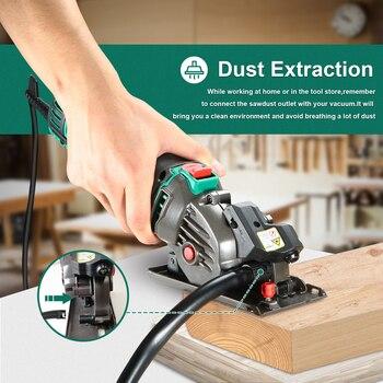 HYCHIKA 500W Electric Mini Circular Saw With Laser 120V 220V Multifunctional Electric Saw DIY Power Tool For Cut Wood,PVC tube 3