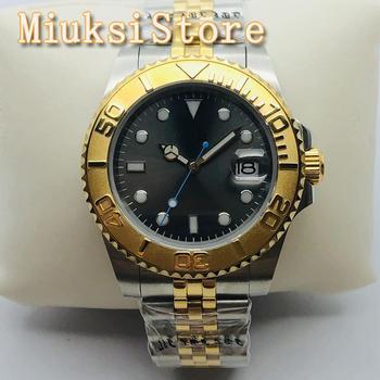 BLIGER 40mm Men's New Top Luxury Watch Sapphire Glass Stainless Steel Bezel Dark Grey Sterile Dial Luminous Mens Automatic Watch