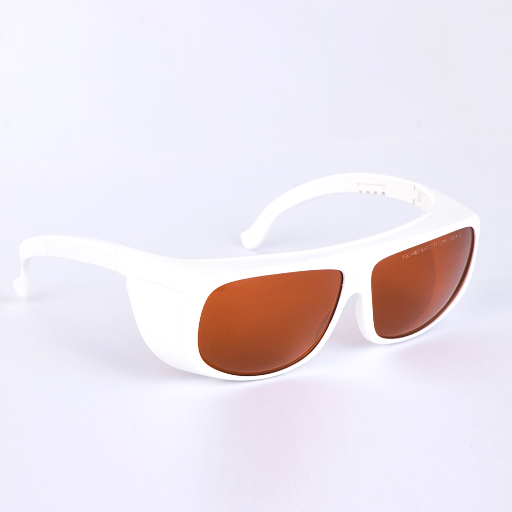 532nm and 1064nm Laser Safety Goggles for 190-550nm and 800-1100nm O.D 6 CE with Cleaning Cloth and Black Safety Bag