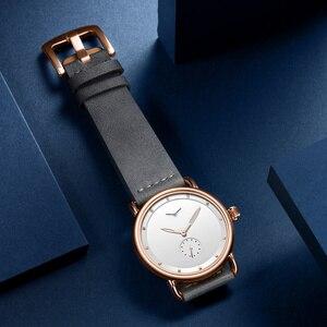 Image 4 - ONOLA Reloj sencillo de acero inoxidable para hombre, reloj de pulsera masculino, de cuero genuino, elegante, informal, resistente al agua, 2019