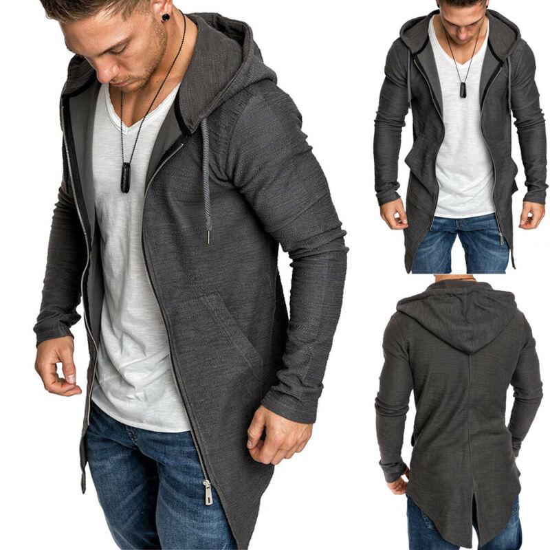 Men s Warm Hooded Coat Outwear Jumper Winter Trench Zipper Long Sleeve Cloak Male Coat Streetwear Men's Warm Hooded Coat Outwear Jumper Winter Trench Zipper Long Sleeve Cloak Male Coat Streetwear