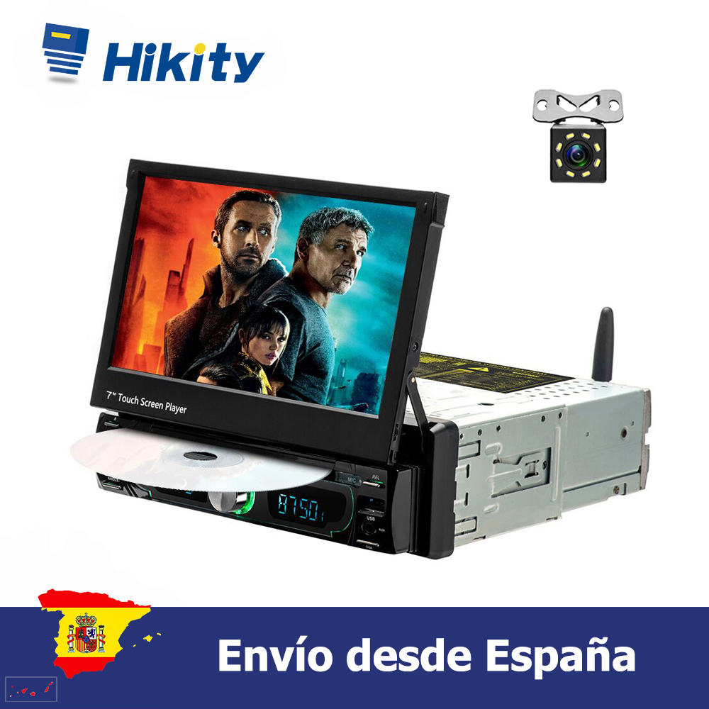 Hikity 1 din Android 8.0 coche radio 7'' Reproductor multimedia de coche single touch screen TFT LCD DVD display image