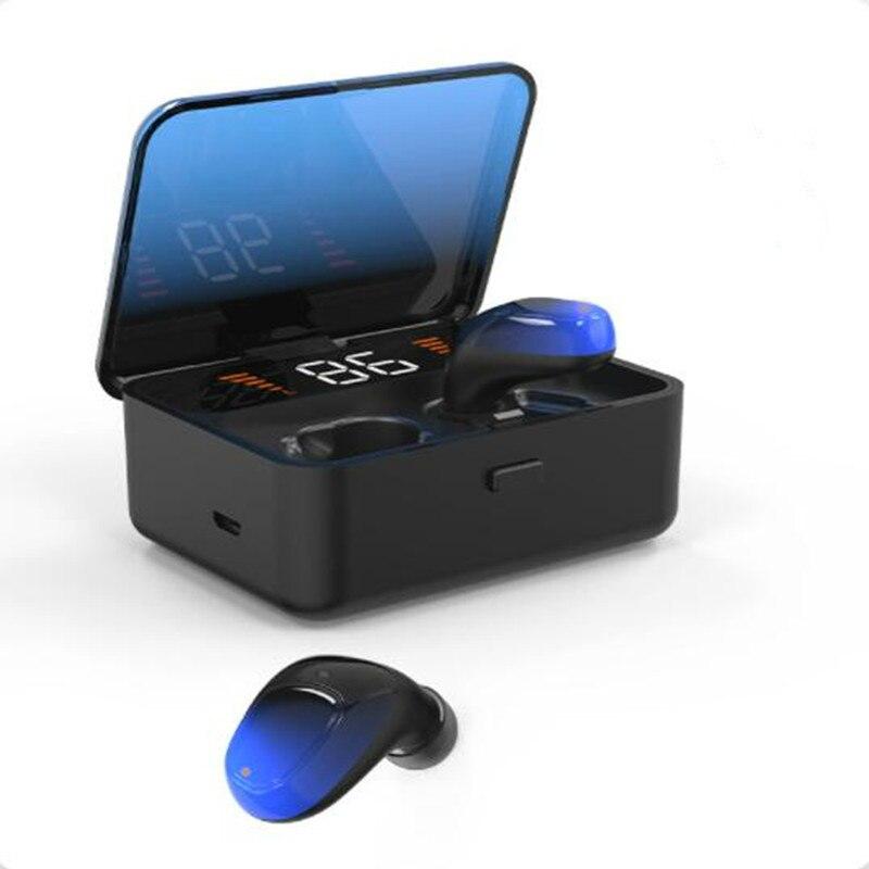 9D  ES01 TWS Bluetooth Earphone V5.0 Touch Wireless Earbuds Stereo Sport Waterproof Headset handsfree LED Power display