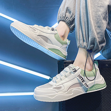 Trendy New Men'S Shoes, Large Size, Light Casual Shoes, White Shoes, Male Students' Sports, All-Match Middle-Aged Fashion Shoes