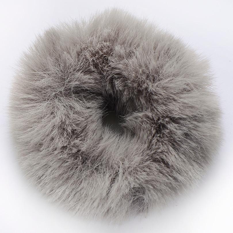 Резинки для волос Новые зимние теплые резинки для волос из мягкого искусственного меха для женщин и девочек, эластичная канатная Резиновая лента, головные уборы, аксессуары для волос украшения для волос