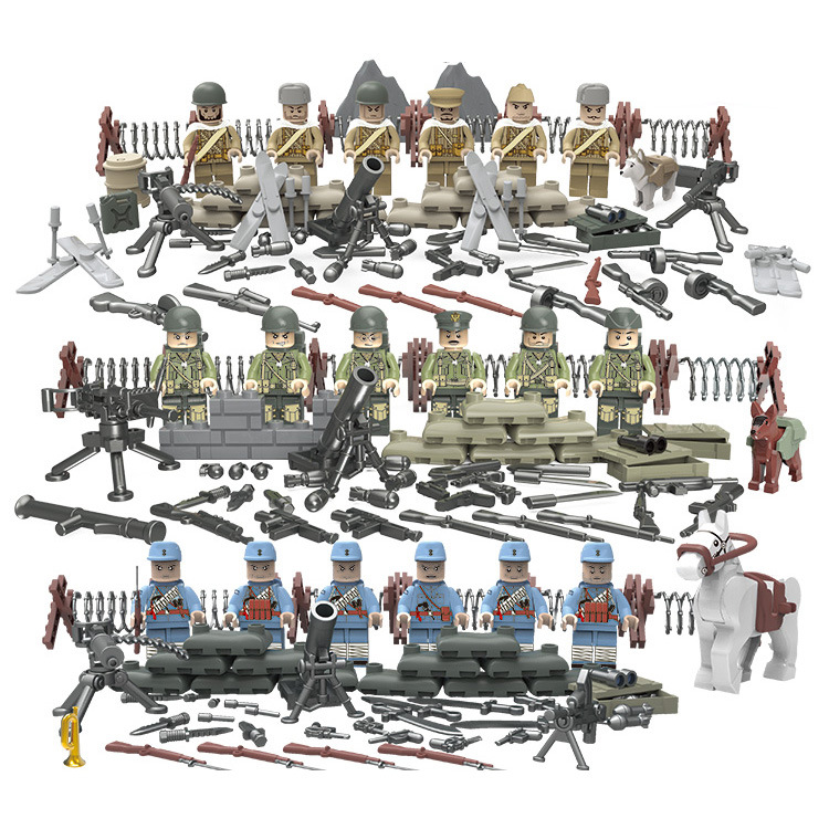 Army MILITARY Series Soldiers WW2 Weapon DIY Special Forces Figures Building Block Brick Toys For Boys Children Gifts
