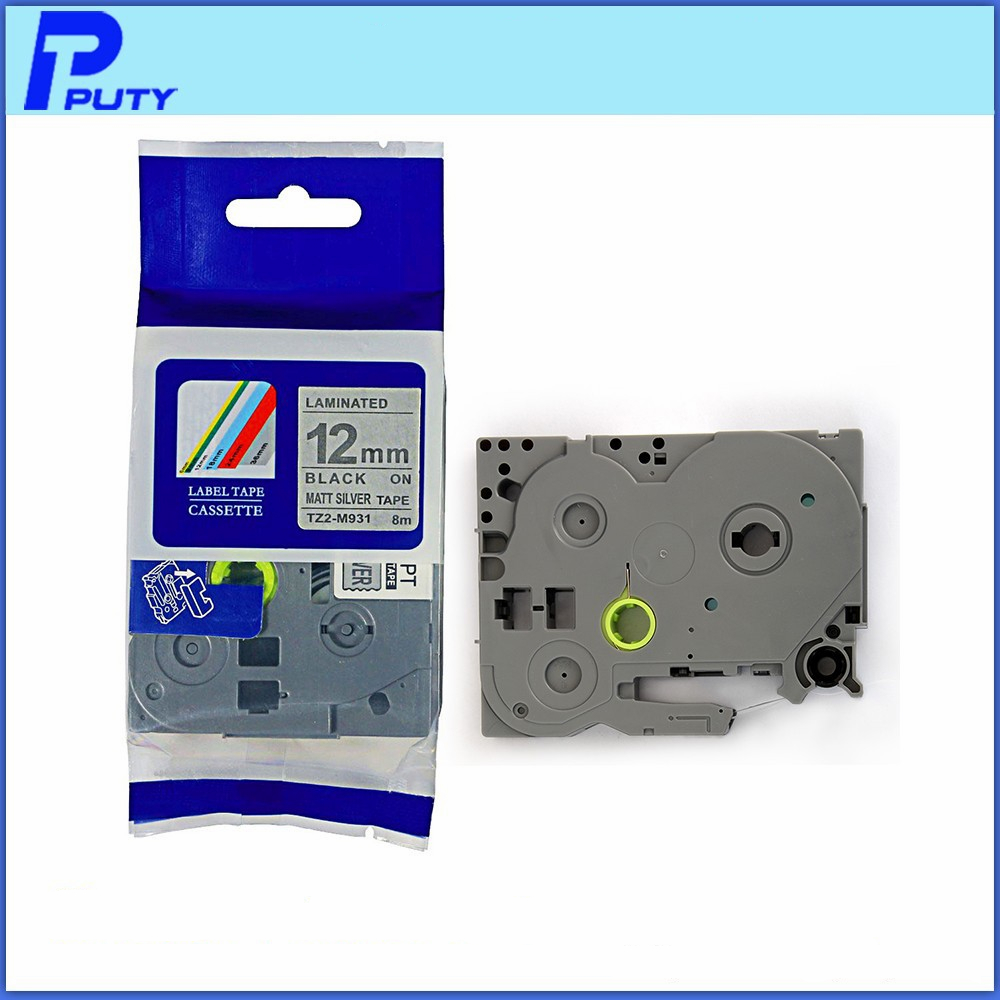 10 compatible with Brother TZ-FX631 Laminated flexible Label Black//Yellow 12mm