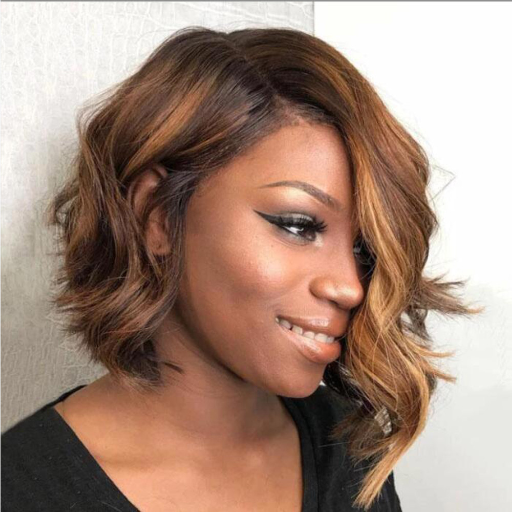 Highlights Color Human Hair Full Lace Wigs With Baby Hair Ombre Blonde Natural Wave Hair Brazilian Remy Glueless Wigs For Women