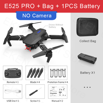 E525 PRO RC Quadcopter Profissional Obstacle Avoidance Drone Dual Camera 1080P 4K Fixed Height Mini Dron Helicopter Toy 10