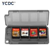 แบบพกพาสีดำสีฟ้าสีขาว10 In 1เกม8ใบ + การ์ดTF 2ใบStorage Case Miniกล่อง11.2X4.7X1.3ซม.สำหรับNintendo Switch