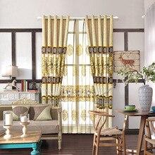 Новый китайский вышивки Синеля шторы для гостиной столовая спальня.