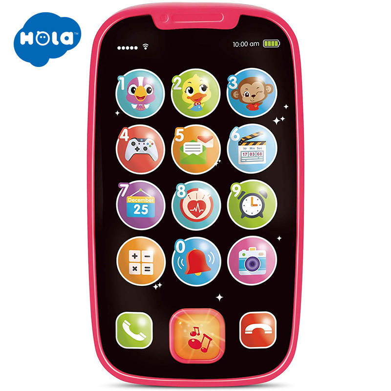 HOLA 3127 My Learning Remote And Phone Bundle With Music, Fun, Smartphone Toys For Baby, Infants, Kids, Boys Or Girls Gifts