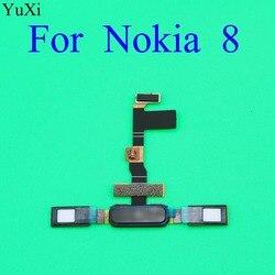 YuXi czujnik odcisków palców dla Nokia 8 TA1004 TA1052 TA-1004 TA-1052 przycisk Home linii papilarnych Menu powrotu klucz przewód elastyczny czujnika