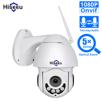 1080P WIFI IP Camera PTZ 5X Optical Zoom Speed Dome ONVIF CCTV Outdoor Waterproof 2MP Two Way Audio Camera Hiseeu