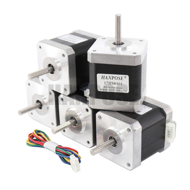 1pcs Free shipping 4-lead Nema17 Stepper Motor 48mm 78Oz-in 1.8A  Nema 17 motor 42BYGH 1.7A (17HS8401)  motor for 3D printer