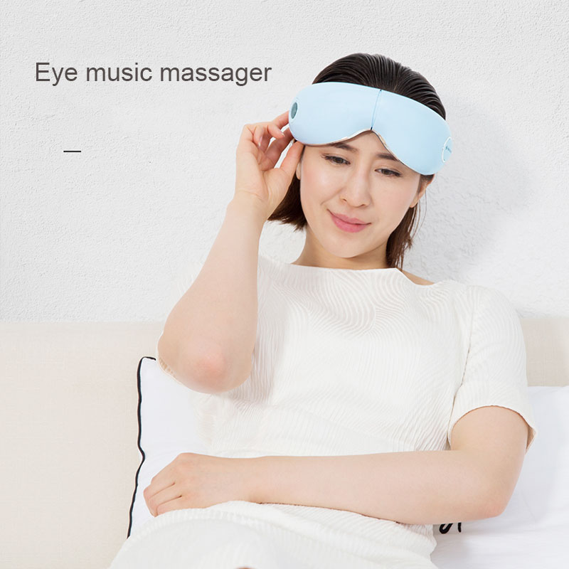 Eye Massager Reduce Eye Strain Vibrating Thermal Massage Equipment Charging Portable Foldable Plastic