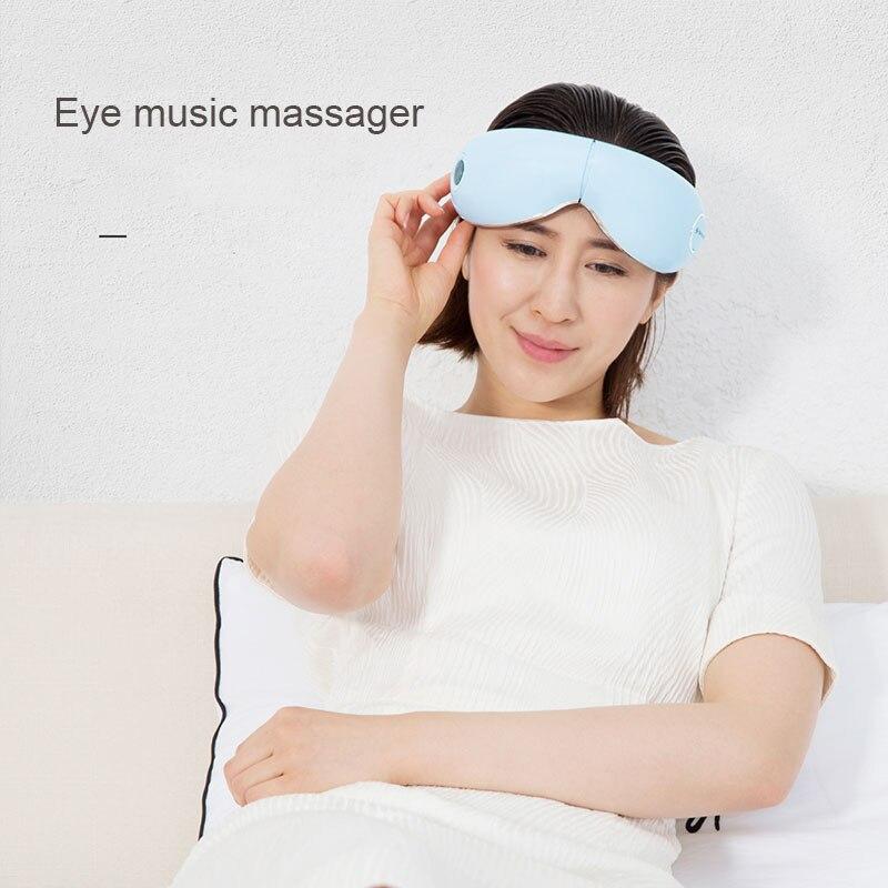 Eye Massager Reduce Eye Strain Vibrating Thermal Massage Equipment Charging Portable Foldable Plastic