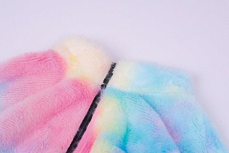 He002d90315af4d0cb6a1eaf850537fffz Hugcitar long sleeve zipper high neck Faux lambswool crop tops 2018 autumn winter women fashion solid coat jacket