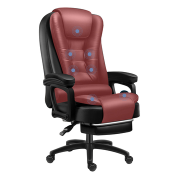 High Quality Boss Office Silla Gamer Poltrona Chair Can Lie Wheel Synthetic Leather With Footrest Ergonomics Office Furniture 5