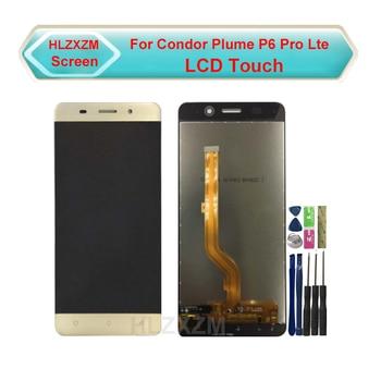 Para pantalla LCD Condor Plume P6 Pro Lte con montaje de digitalizador con pantalla táctil de repuesto con herramientas + pegatina 3M