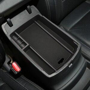 Image 4 - Caixa de armazenamento de braço central do carro recipiente titular bandeja para kia sportage kx5 ql em lhd 2016 2017 (para freio de mão eletrônico)