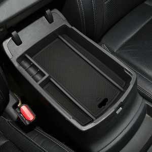 Image 4 - Car Central Armrest Storage Box Container Holder Tray for KIA Sportage KX5 QL AT LHD 2016 2017 ( for Electronic Hand Brake )