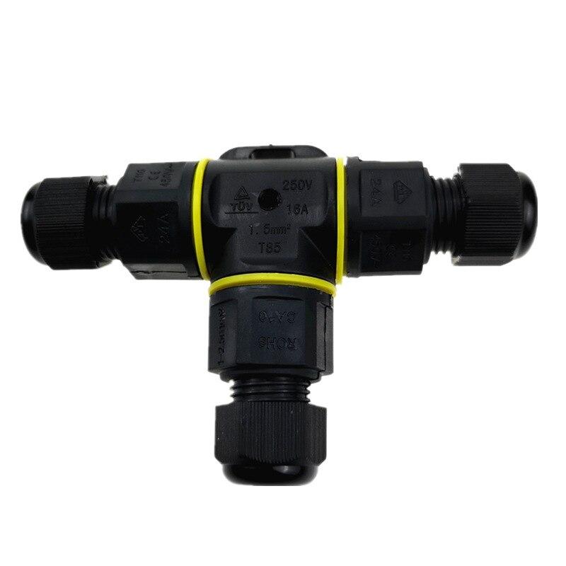 3-контактный T-type IP68 водонепроницаемый разъем 3-9 мм/3-12 мм наружное освещение водонепроницаемый соединительный кабель Водонепроницаемая Сое...