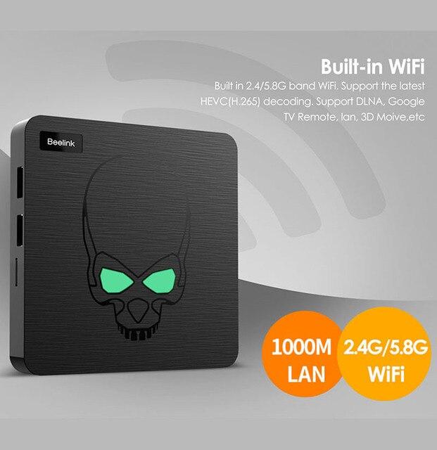 Beelink-TV Box GT King, Android 9,0, con Amlogic S922X, hexa-core, G52, MP6, gráficos, LPDDR4 de 4GB, 64GB de ROM, 5,8G, wi-fi, Bluetooth 4,1, 4K 75hz