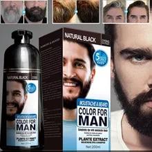 Beard-Dye-Shampoo Hair Permanent Natural White Dying-Removal Grey Long-Lasting 200ml