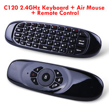 C120 TV Universal Remote Control Mouse Udara Tanpa Suara Isi Ulang 2.4G Wireless Keyboard untuk Android TV Box dengan Keyboard(China)