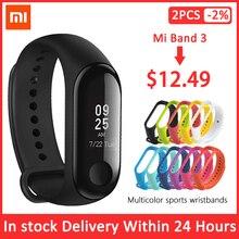 Xiaomi Mi bande 3 Version mondiale Bracelet de suivi de forme physique OLED écran moniteur de fréquence cardiaque Bracelet bande