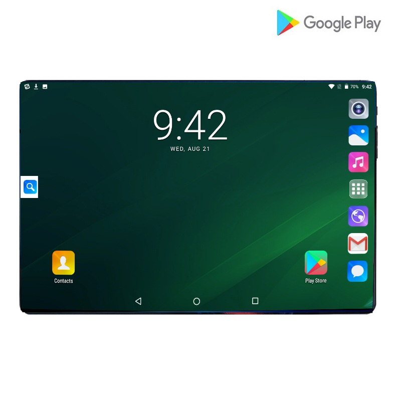 Global 10 Inch 4G LTE Phone Call Octa Core 6GB RAM 64GB ROM Android 10.1 Tablet PC 64GB 1280*800 IPS Dual Cameras Wifi A-GPS Pad