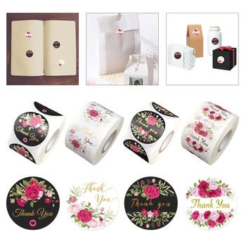 500pcs/roll Flower Thank You Stickers Party Decoration Home Home Decoration cb5feb1b7314637725a2e7: 1|2|3|4