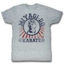 Camiseta para homem do dojo do miúdo do karate em urze cinzenta