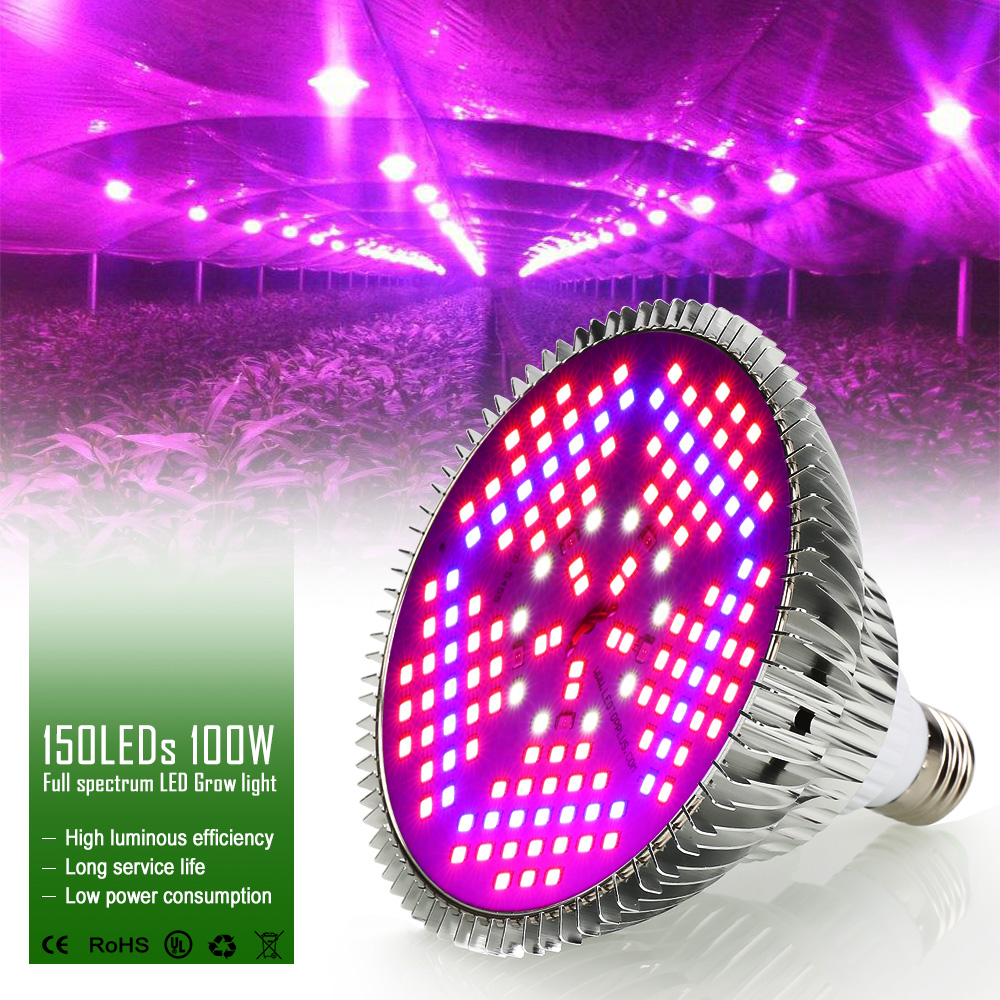LED Grow Light Growing Lamp Plant Lamp Greenhouse Flower Fruits Grow Bulb Plants Indoor Led Grow Light 30W/50W/80W/100W