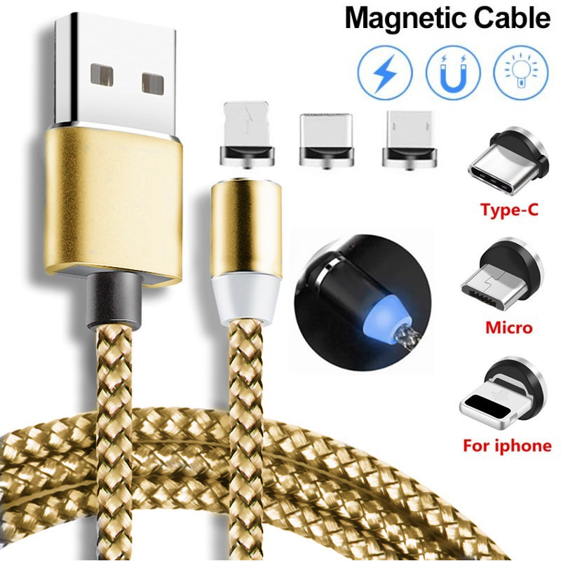 Magnetic USB Cable Fast Charging For Samsung Galaxy S3 S4 S6 S7 Edge Note 4 5 J2 J3 J5